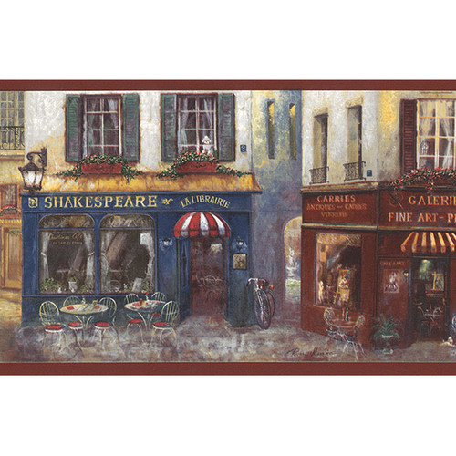 Norwall Wallcoverings Inc Kitchen Elements 32'' x 20.5'' Village Charm Border Wallpaper