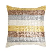 Best Home Fashion, Inc. Multicolor Striped Mother of Pearl Pillow Cover