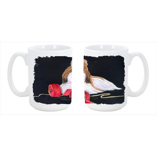 Carolines Treasures SS8562CM15 Shih Tzu Dishwasher Safe Microwavable Ceramic Coffee Mug 15 oz. - image 1 of 1