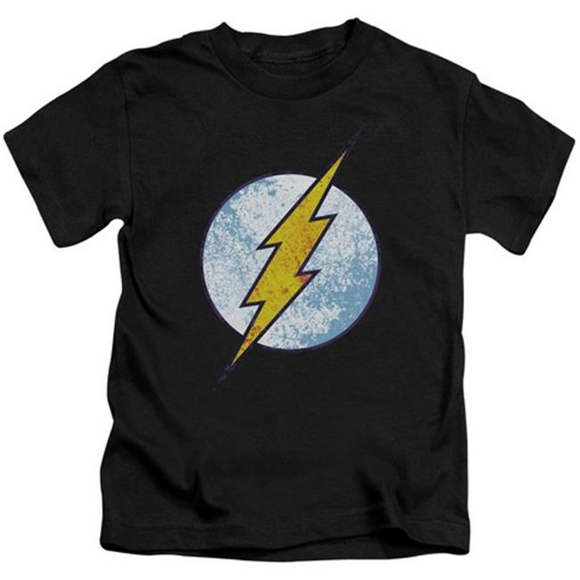 Dco-Flash Neon Distress Logo - Short Sleeve Juvenile 18-1 Tee - Black, Medium 5-6 - image 1 of 1