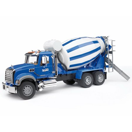 Construction Mixer Truck - Bruder Toys Construction Vehicle MACK Granite Cement Mixer Truck with Barrel