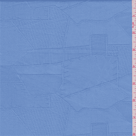 Cadet Blue Damask Jacquard, Fabric Sold By the Yard