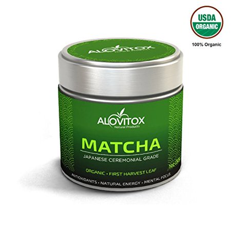 Organic Japanese Matcha Green Tea   1 Oz  Japanese Superfood Powder   First Harvest Ceremony Grade   Non Gmo Raw Vegan Gluten Free   Smoothies Lattes   Recipes For Energy Weight Loss Fat Burner
