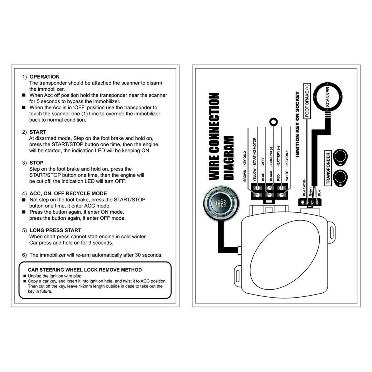 Leshp Auto Car Alarm Engine Push Button Start Stop Rfid Lock Startigniteddiagramjpg Qty