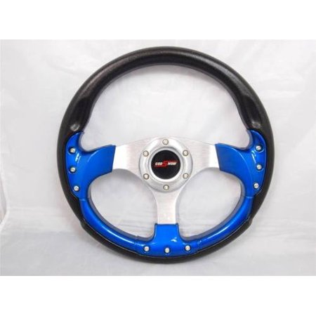 Yamaha Golf Cart & Polaris Rhino Steering Wheel W/ Billet Adapter 3 (Rhino Steering Wheel)