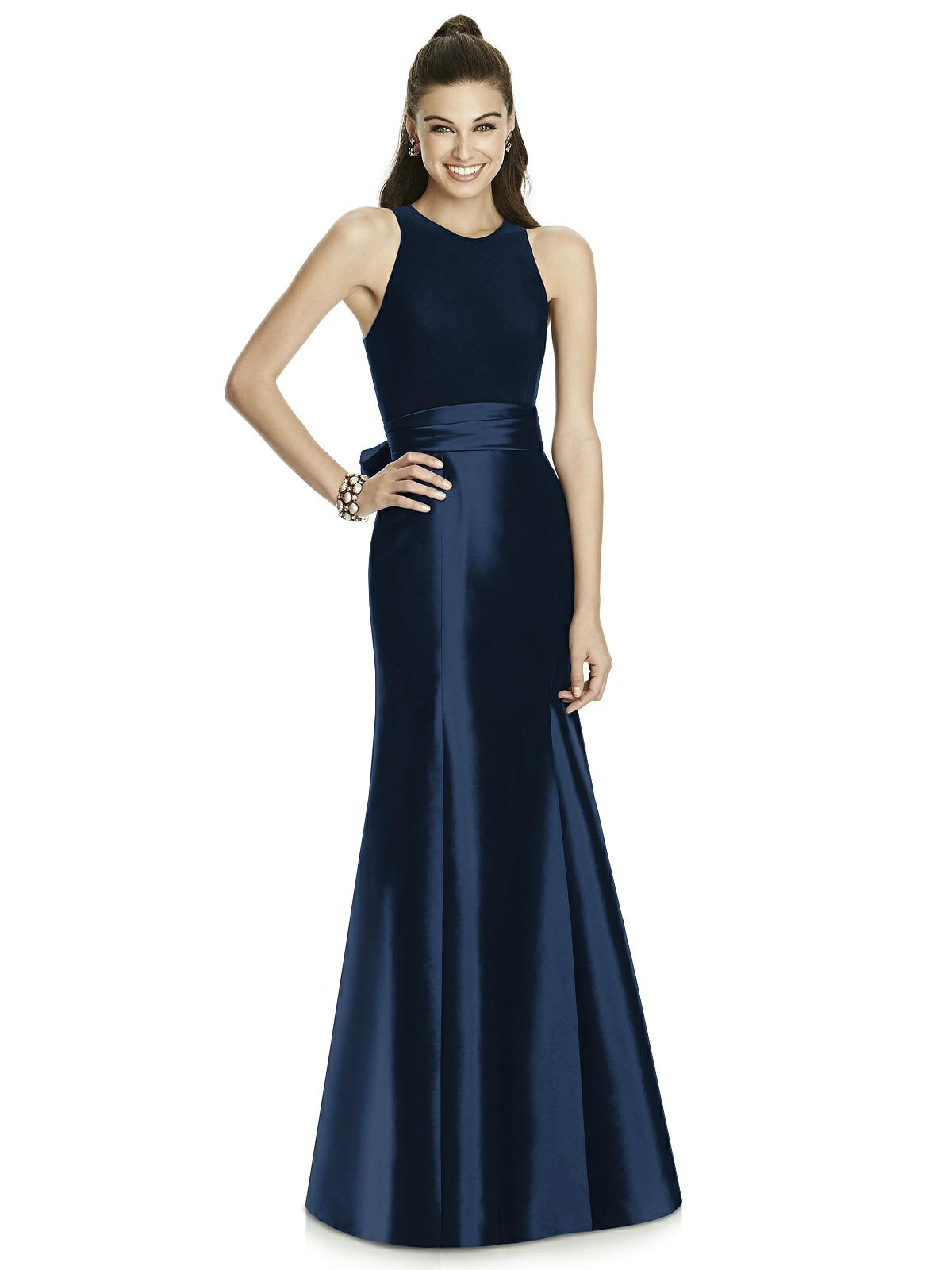 Alfred Sung Halter Neckline Bridesmaid Dress