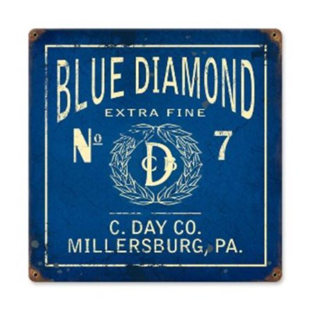 Past Time Signs PTS272 Blue Diamond Home And Garden Vintage Metal Sign - image 1 de 1