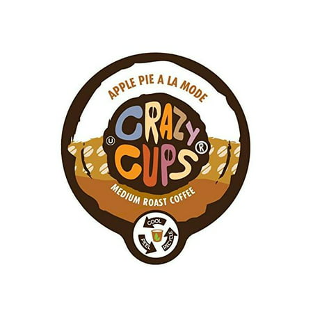 Crazy Cups Apple Pie a La Mode Flavored Coffee Single Serve Cups, 22 count ()
