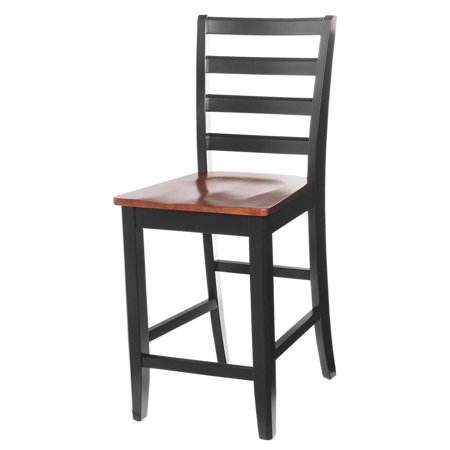 Sturdy Dining Chairs Counter Height Finish Black Saddle Brown Quantity 4 Piece