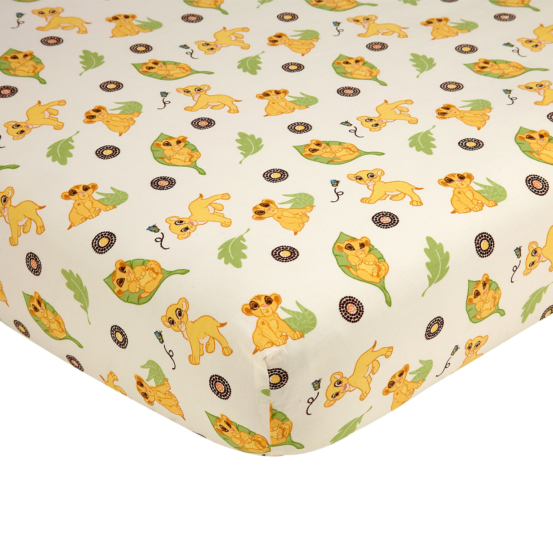 Disney Lion King Simba's Wild Adventure 100% Cotton Fitted Crib Sheet