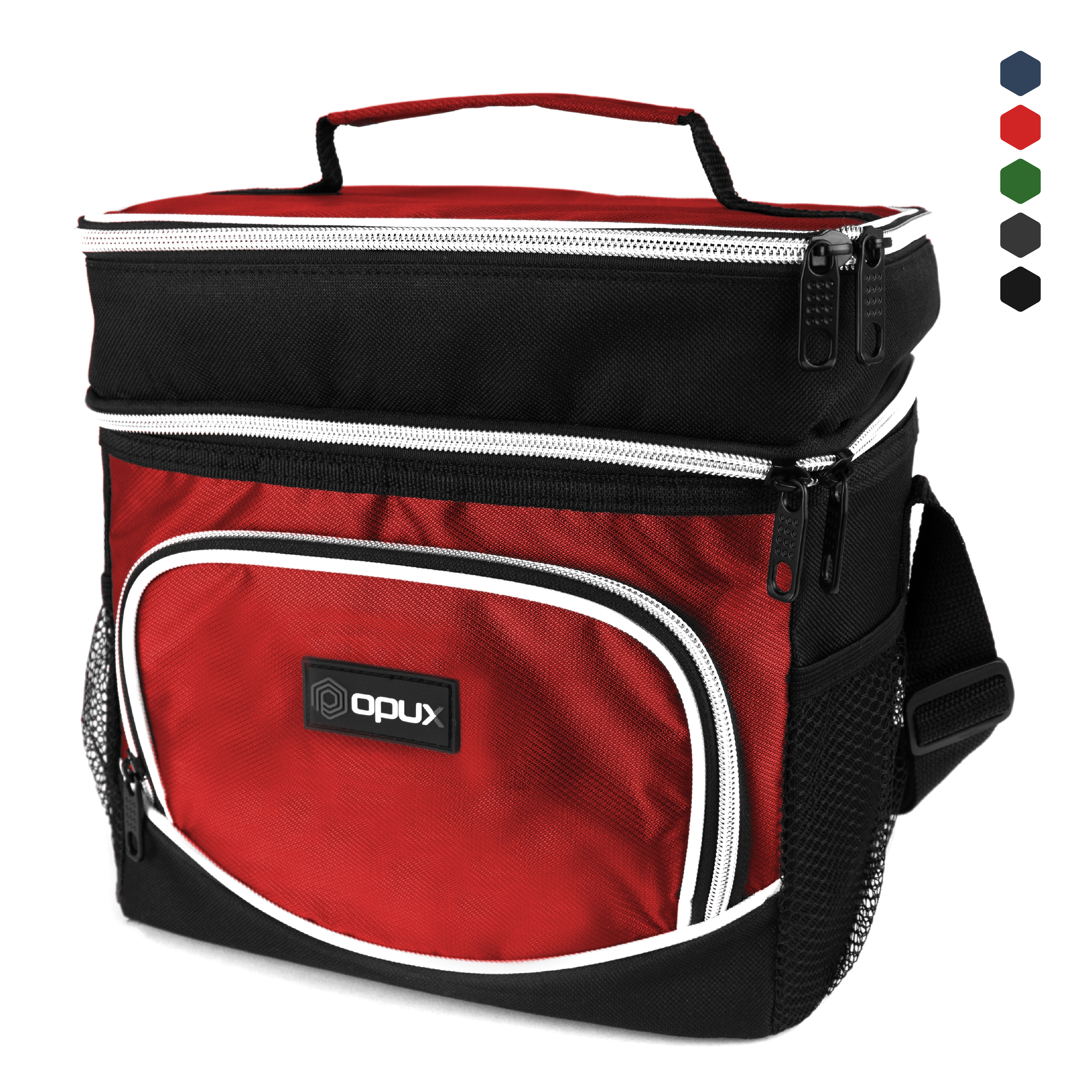 Premium Insulated Dual Compartment Lunch Bag by OPUX - Navy