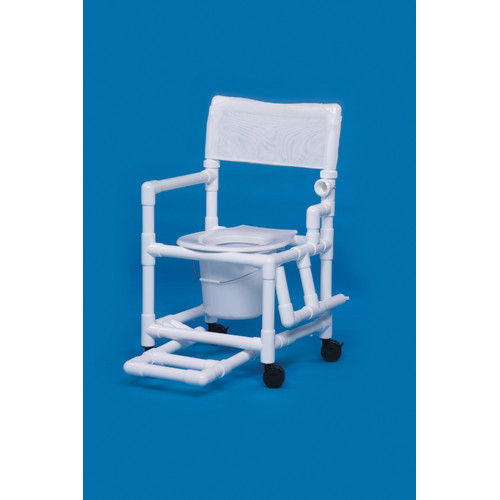 Innovative Products Unlimited Standard Line Commode with Footrest and Left Drop Arm