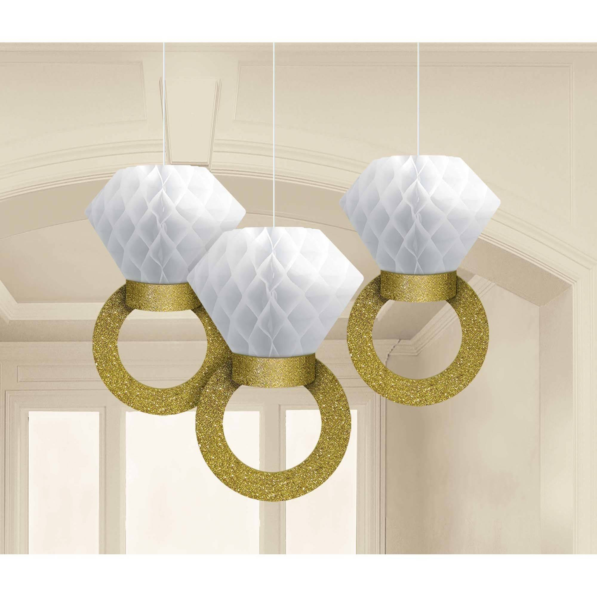 Bridal Shower Ring Hanging Decorations, Set/3