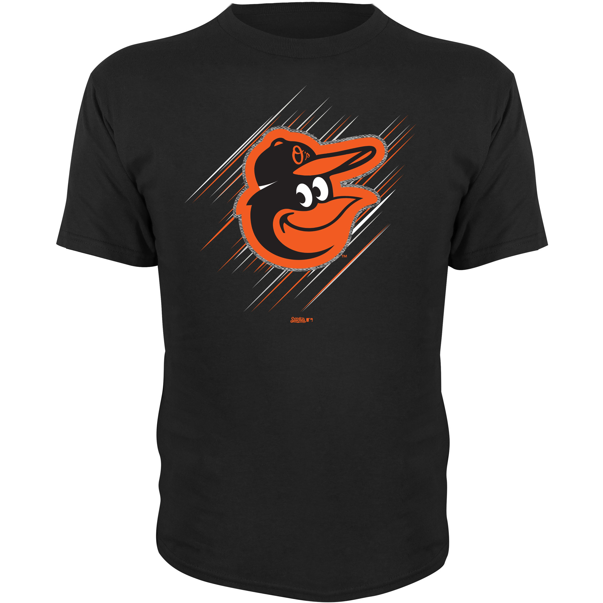 Baltimore Orioles Stitches Youth Team Logo T-Shirt - Black