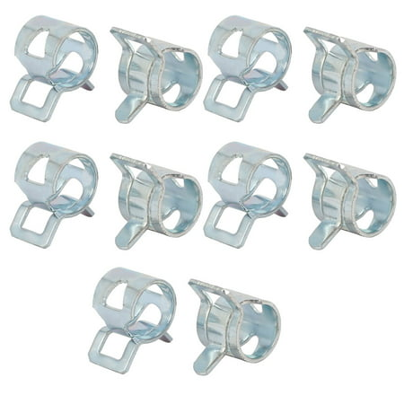 Unique Bargains 10 Pcs 8mm Spring Band Type Action Fuel Hose Pipe Low Pressure Air Clip Clamp