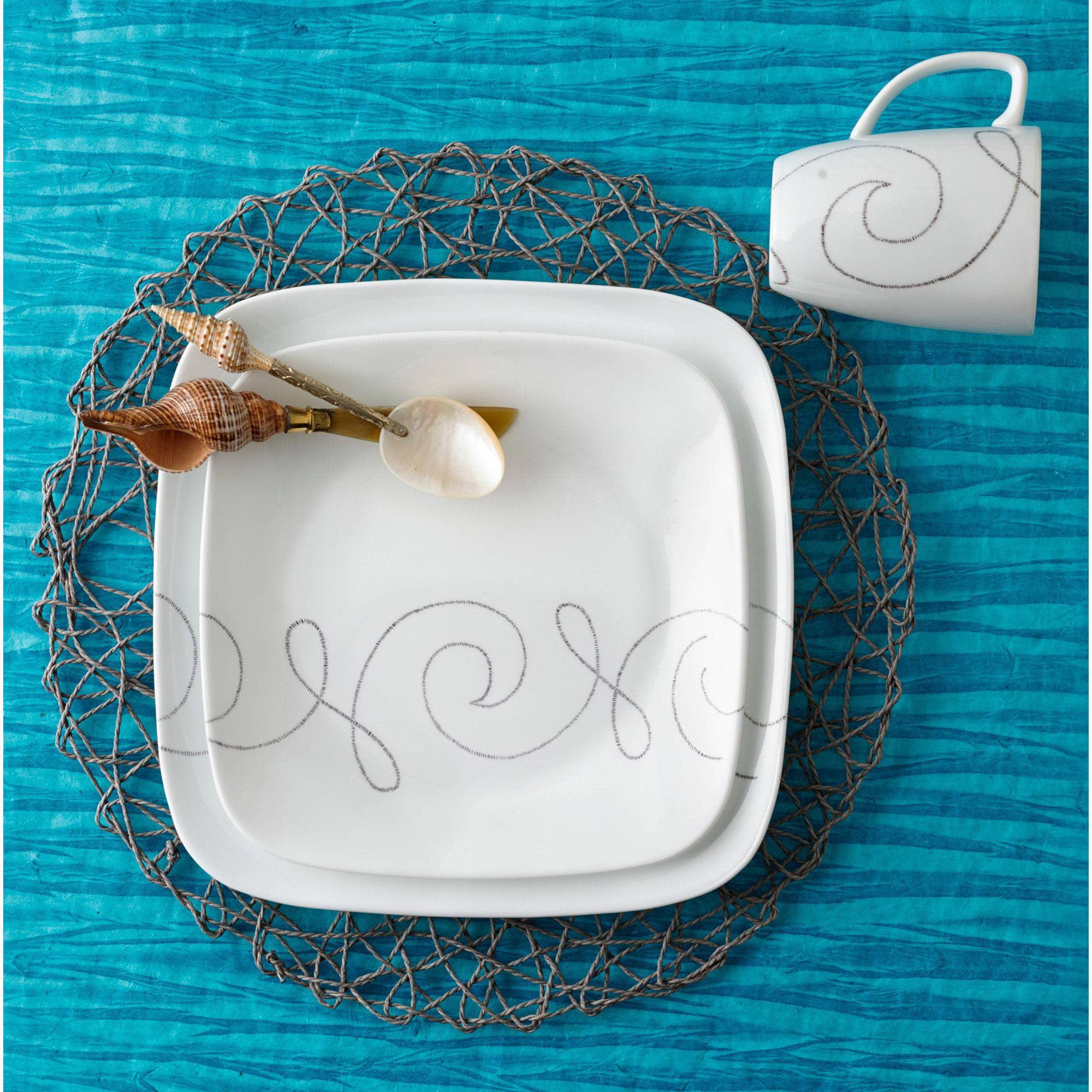 Corelle Squares Endless Thread 16-Piece Dinnerware Set