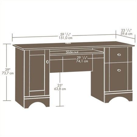 Bowery Hill Computer Desk in Brushed Maple - image 4 de 4