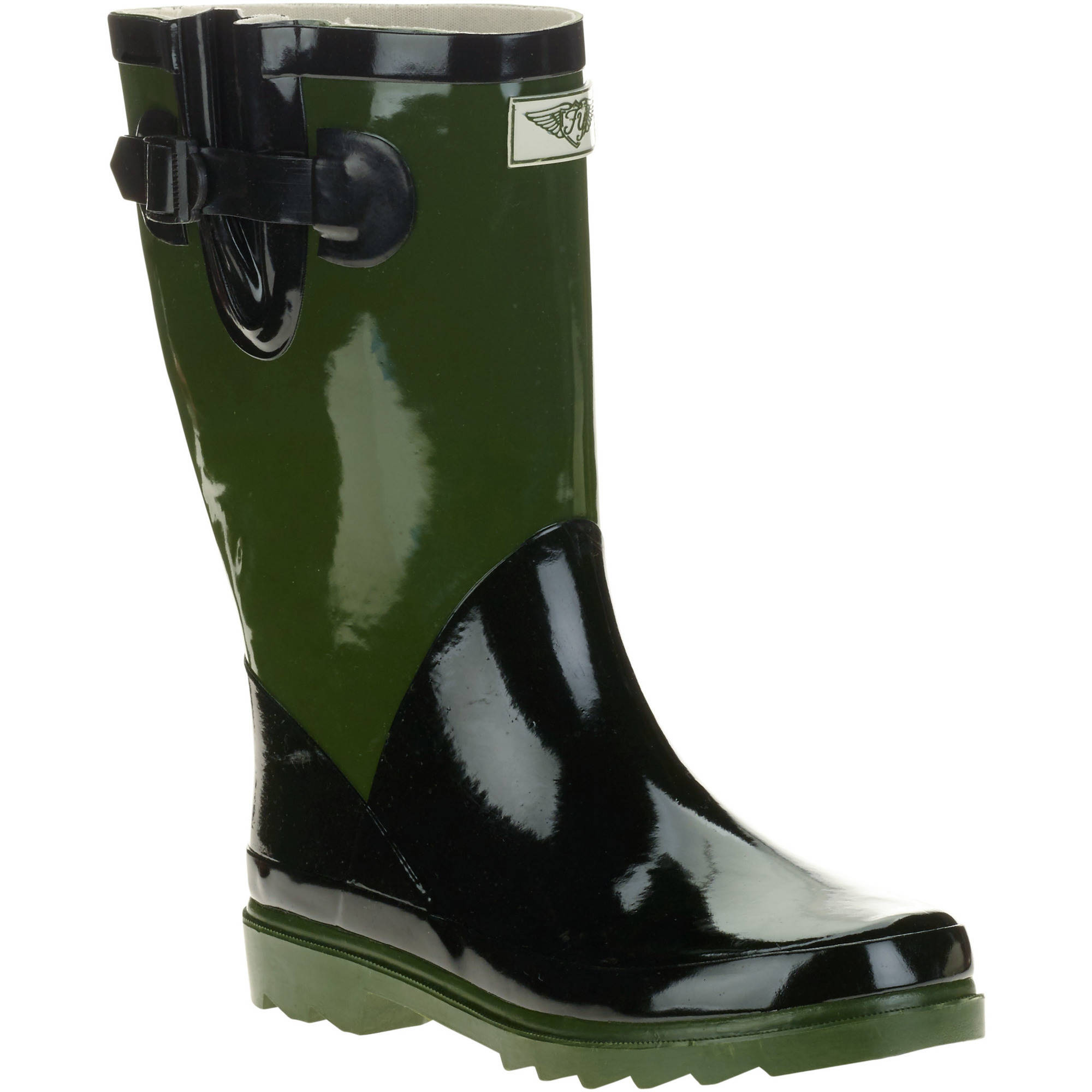 Forever Young Women's Short Shaft Two Tone Rain Boots