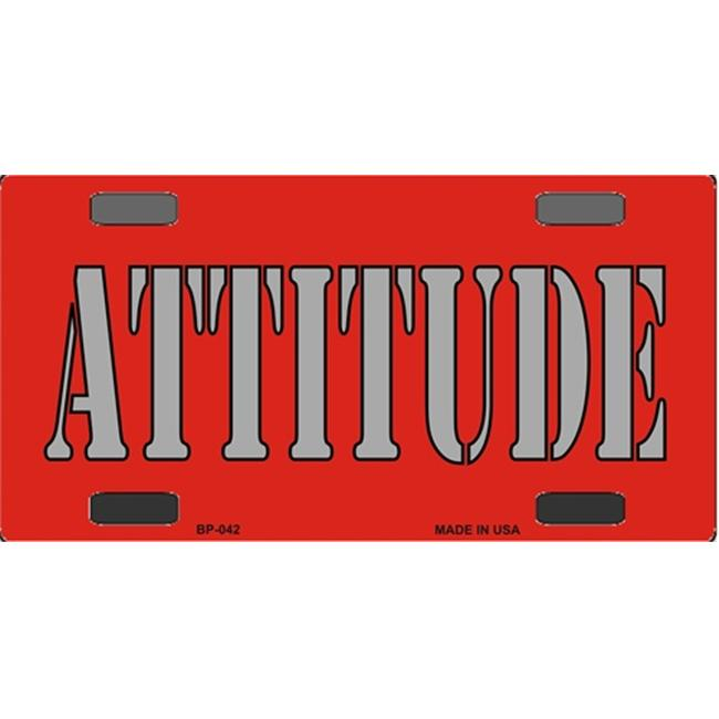 BP-042 Attitude- Bicycle License Plate