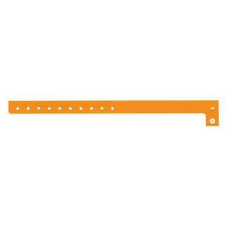 IDENTIPLUS P1-04 ID Wristband,Orange,5/8 in. W,PK500 G3346491](Plastic Wristbands)