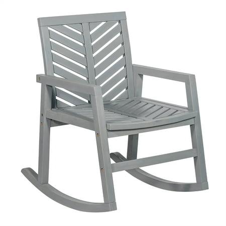 Outdoor Wood Patio Chevron Rocking Chair - Grey Wash ()