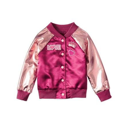 Girls' Bomber Jacket - Varsity Jacket For Girl
