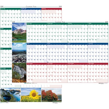 Earthscapes Puppies Wall Calendar - House of Doolittle, HOD393, Earthscapes Laminated Wall Calendar, 1 Each, Assorted