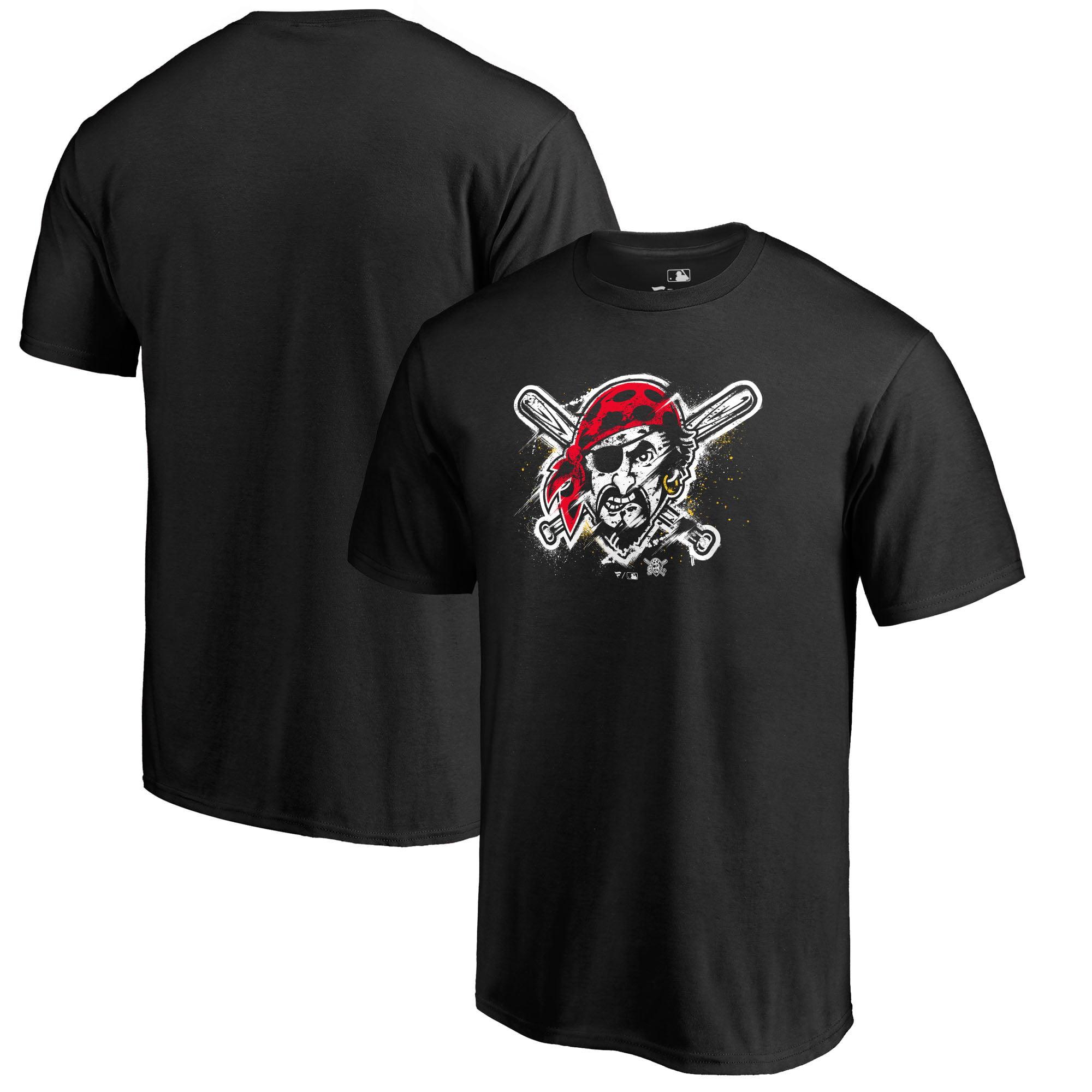 Pittsburgh Pirates Fanatics Branded Splatter Logo Big and Tall T-Shirt - Black