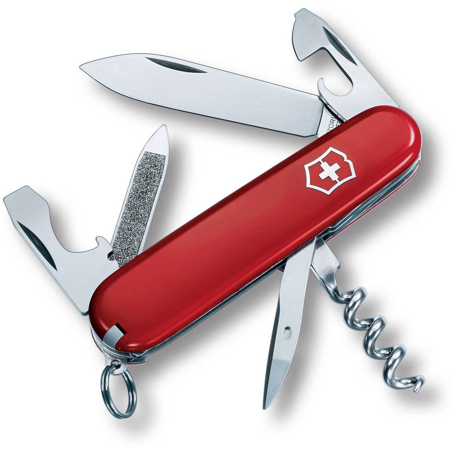 Victorinox Swiss Army Sportsman Pocket Knife (Red)