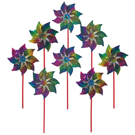 Best Selling Rainbow Whirl Pinwheel - Bright Blended Rainbow Design - Mylar Material - 8 Piece Bags, In the Breeze item #2868 - Rainbow Whirl Mylar.., By In the Breeze Ship from
