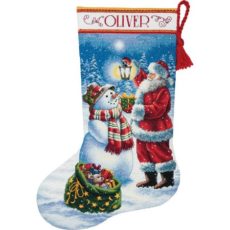 Holiday Hooties Stocking Counted Cross Stitch Kit, 16