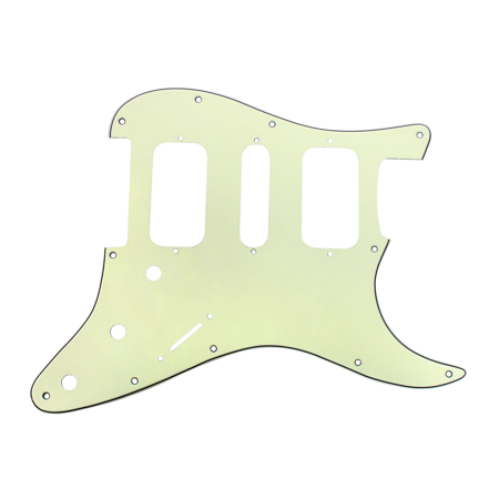 920D Strat 3 Ply HSH Pickguard Fender Stratocaster CNC Cut, Mint (Mint Green Pickguard)