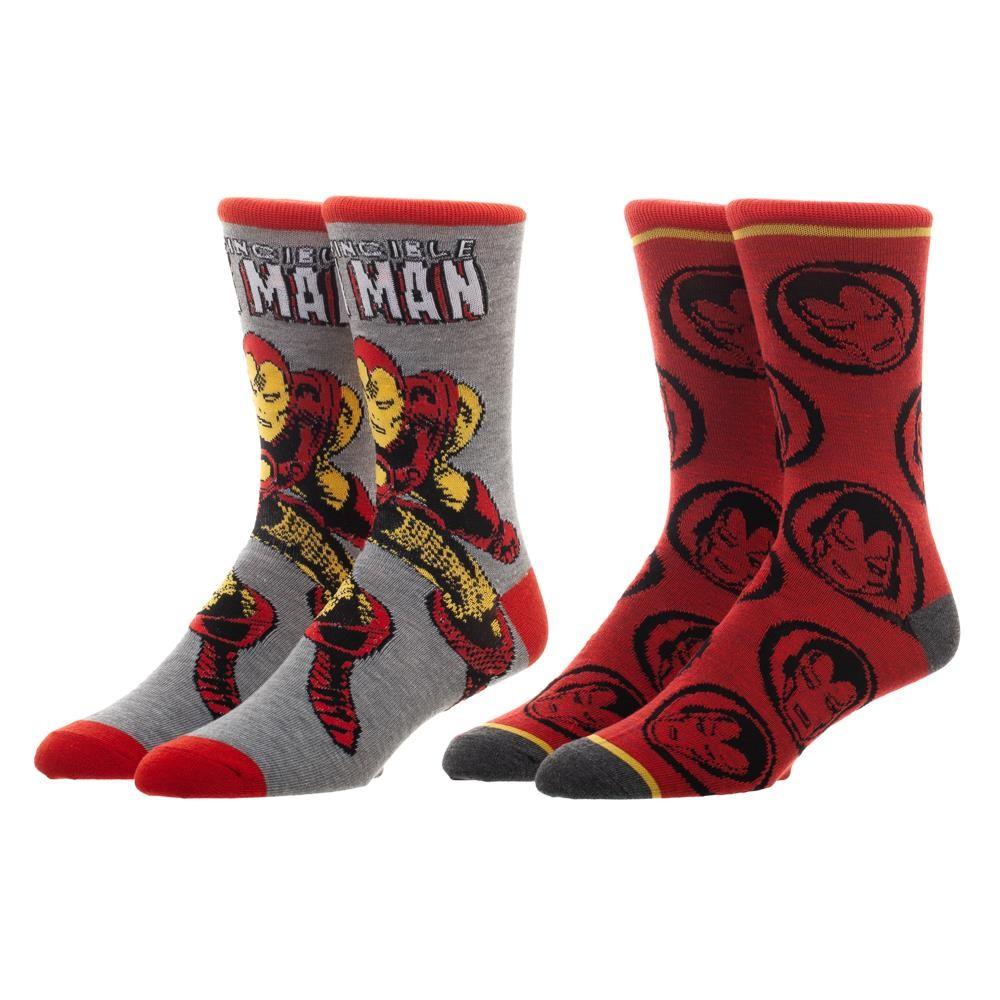 Iron Man Marvel 2 Pack Men's Crew Socks