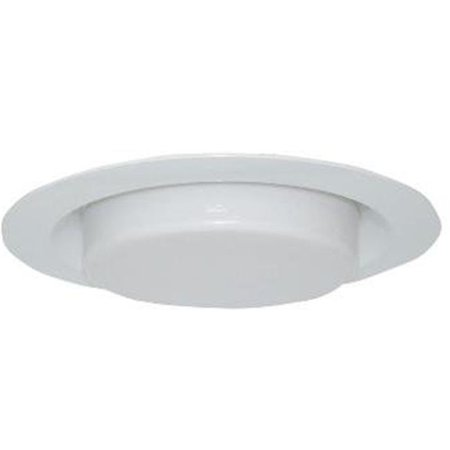 6 in. Recessed Lighting Shower Trim with Drop Lens, White - White Drop Lens