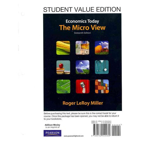 Economics Today : The Micro View: Student Value Edition