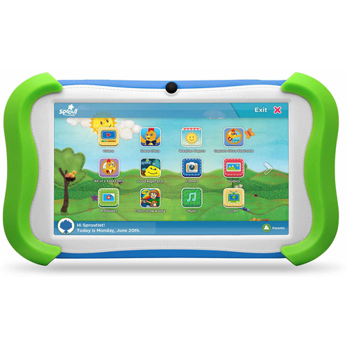 "Sprout Channel Cubby 7"" Kids Tablet 16GB Quad Core Refurbished"