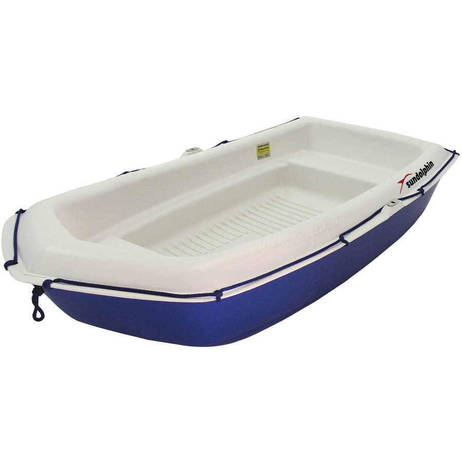 Sun Dolphin 2-Person Sportyak Dinghy with Oars, Blue/White