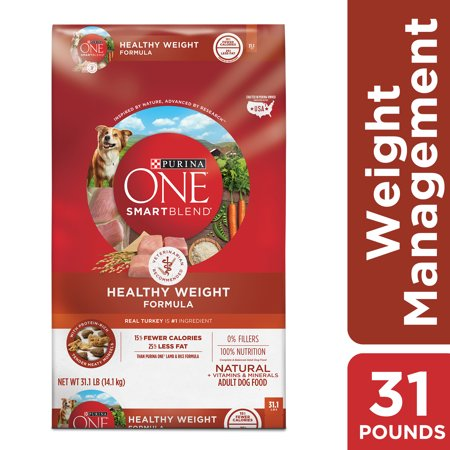 Purina ONE Weight Management, Natural Dry Dog Food, SmartBlend Healthy Weight Formula - 31.1 lb. Bag (Healthy Dog)