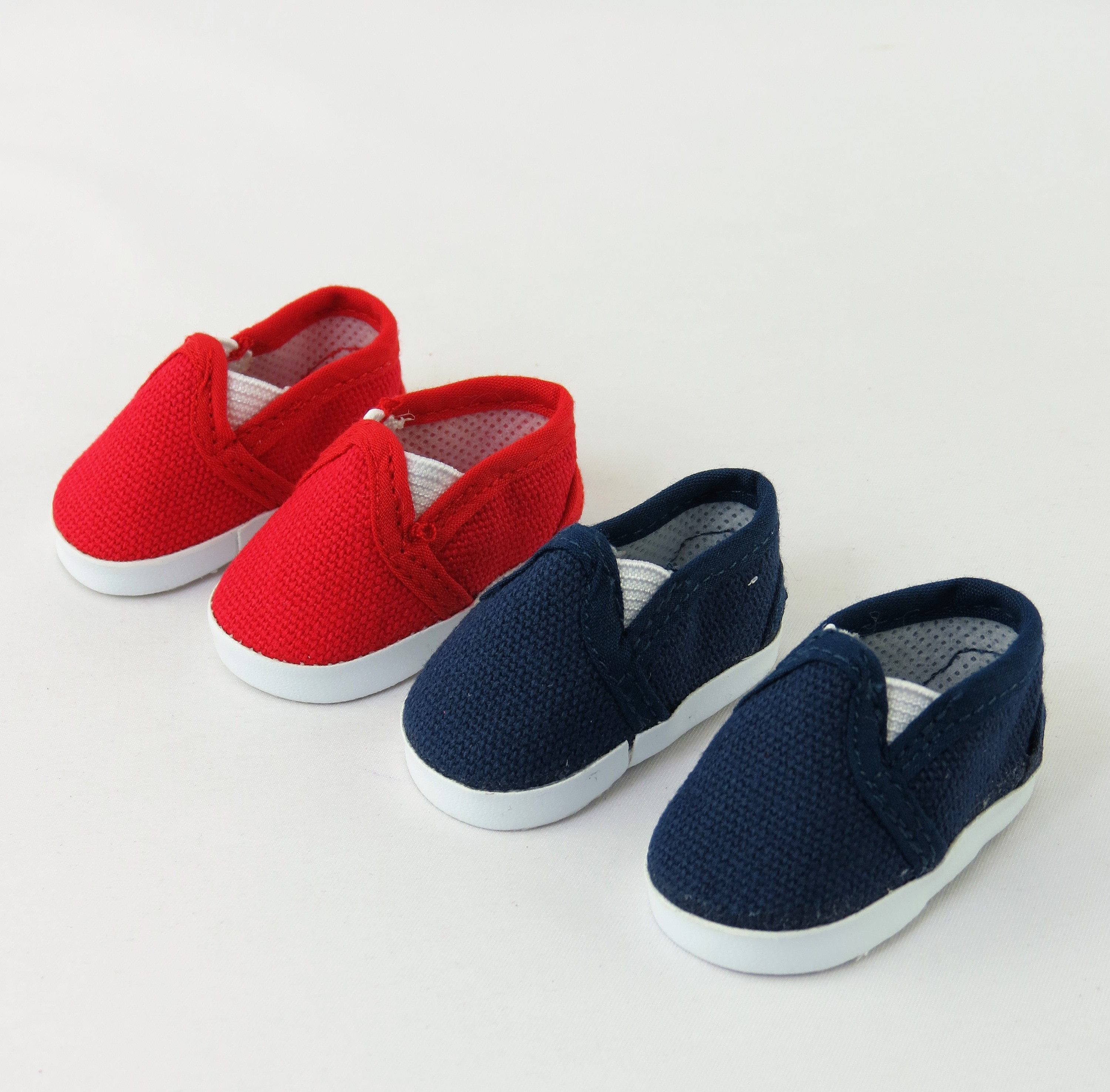 """2 pack of Canvas Slip-On Shoes: Red and Navy 