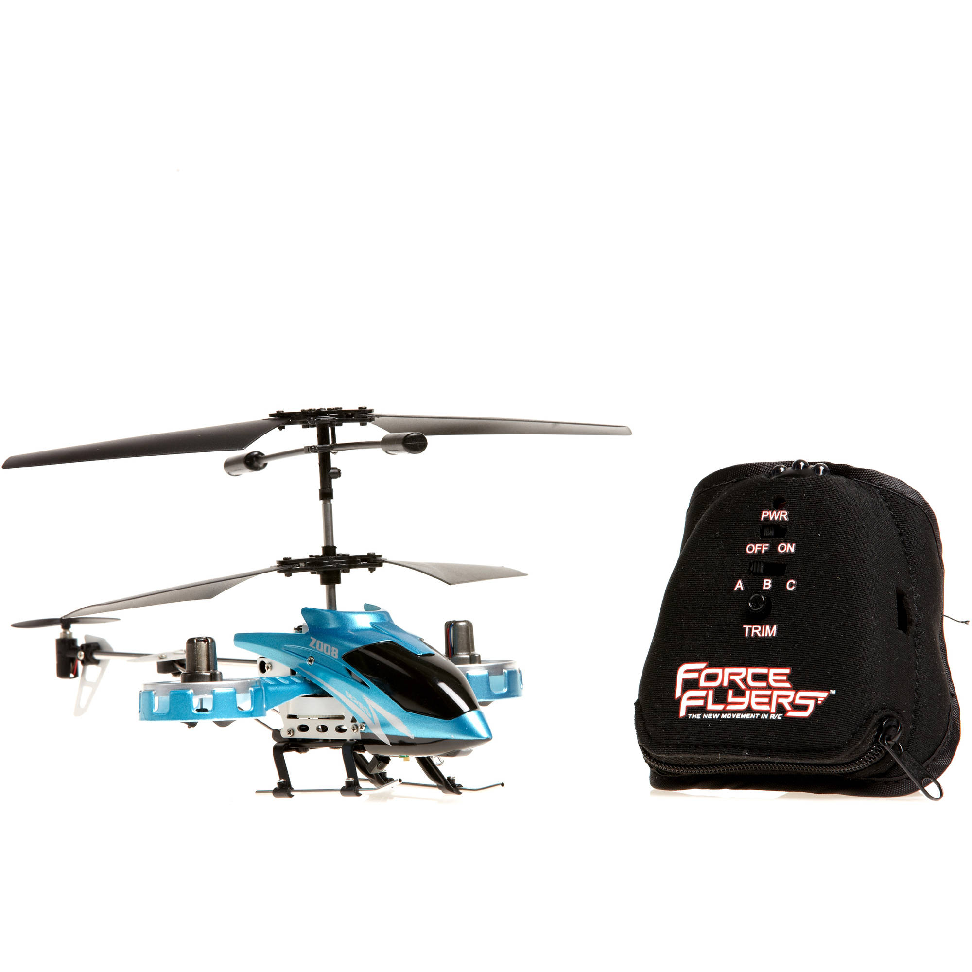 Force Flyers Raptor 4-Channel Motion Control Helicopter, Blue by PaulG Toys