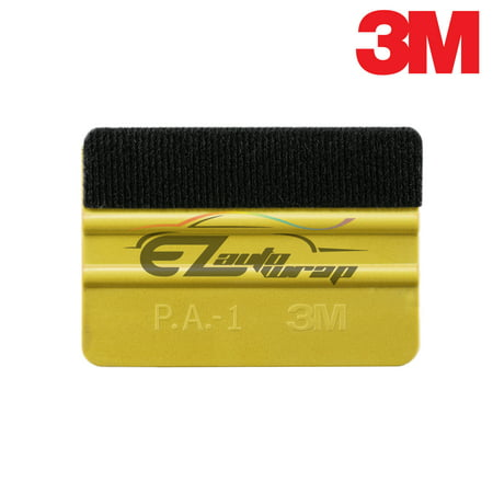 3M Detailer Yellow Gold Plastic Squeegee with Felt Tool Kit Decal Vinyl Wrap Tint - Decal Tint