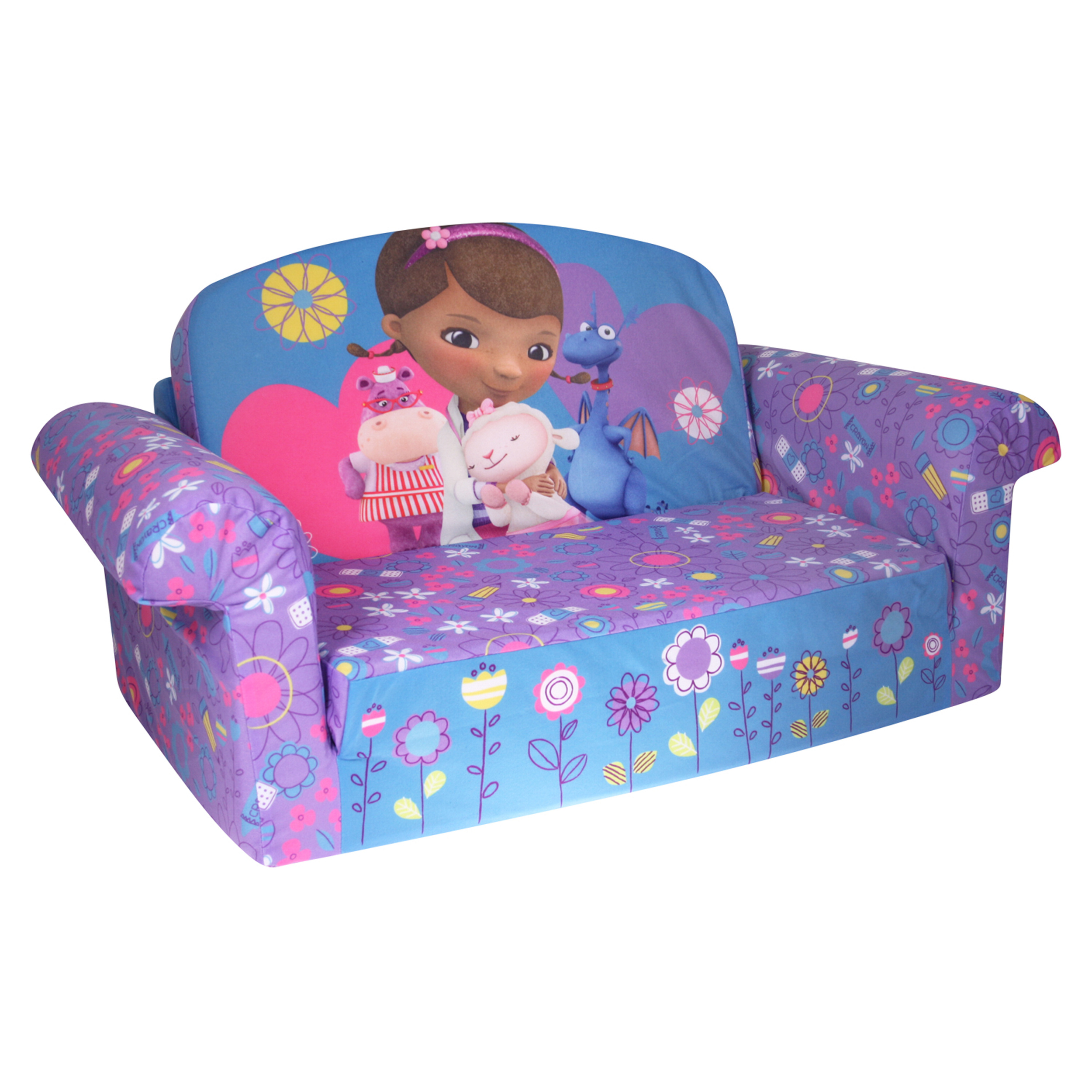 Marshmallow Furniture, Childrenu0027s 2 In 1 Flip Open Foam Sofau2026