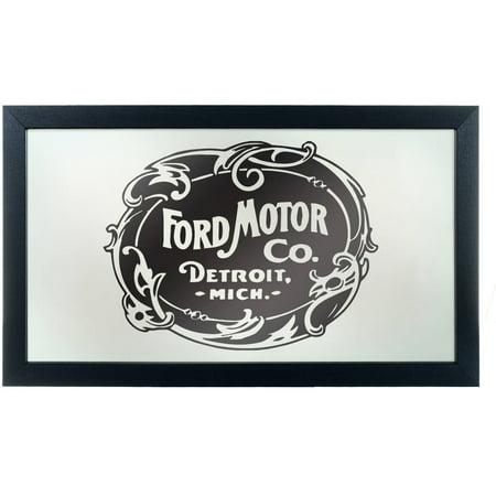 Ford Framed Logo Mirror, Vintage 1903 Ford Motor Co