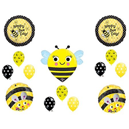 NEW BUMBLEBEE Happy Bee-Day BIRTHDAY PARTY Balloons Decorations Supplies