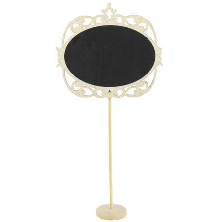 Blackboard Printed Access Card - Wedding Party Wood Oval DIY Table Ornament Place Card Blackboard Chalkboard