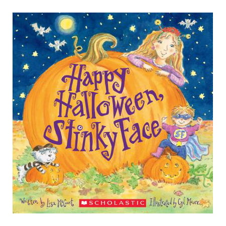 Happy Halloween, Stinky Face (Paperback) - Draw Cat Face Halloween
