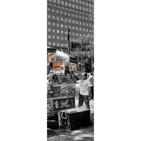 Safari CityPop Collection - NYC Hot Dog with Zebra Man IV Print Wall Art By Philippe Hugonnard - Halloween Dog Show Nyc