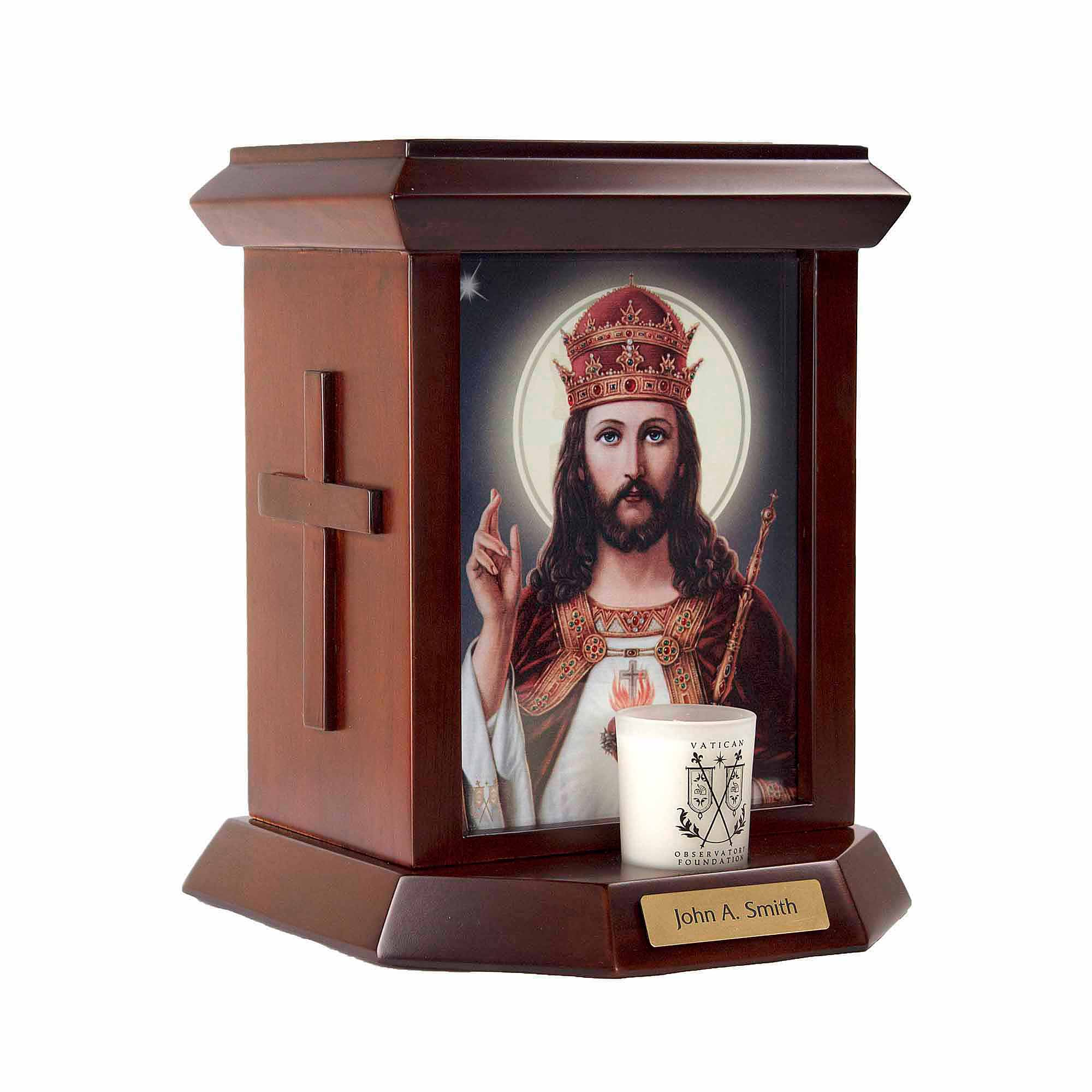 The Official Vatican Observatory Foundation Cremation Urn for Human Ashes - Christ The King