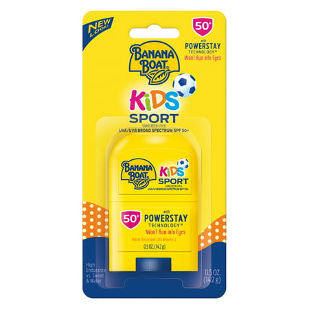 (2 pack) Banana Boat Kids Sport Sunscreen Stick SPF 50+, 0.5 oz (Kids Sunscreen Banana Boat)