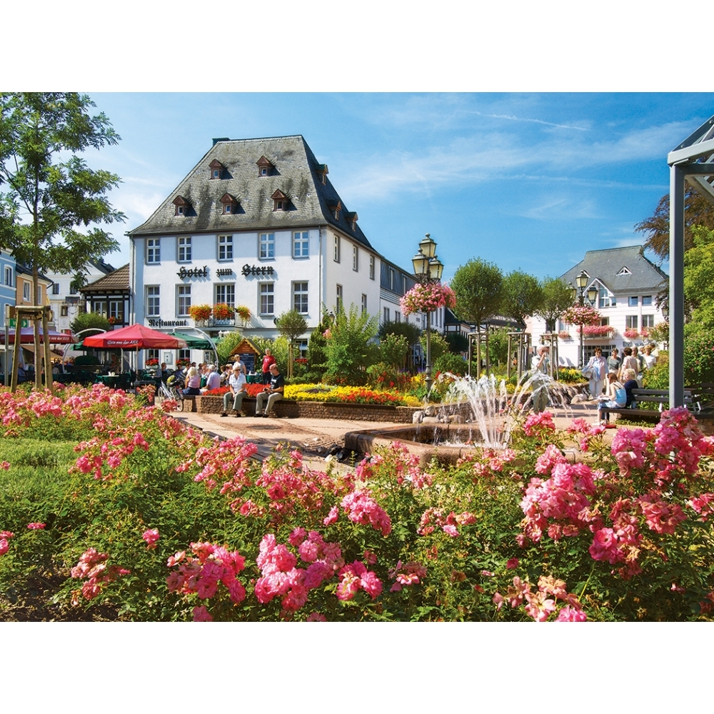 Market Square Bad Neuenahr-Ahrweiler 1000 Piece Puzzle,  Germany by LPF Limited